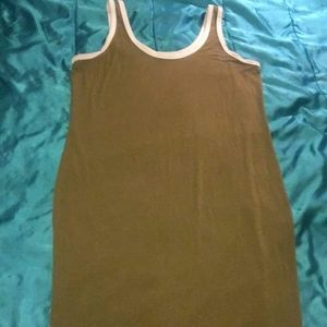 Plus Size Olive Green Fitted Dress